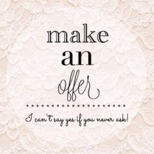 You Can Make An Offer or Bundle 2 Or More To SAVE!